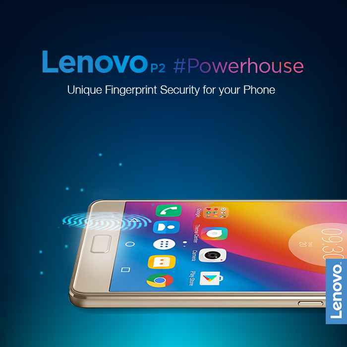 With the Lenovo P2, automatically unlock your phone using only your fingerprint, a password that's as unique as you are. The fast and responsive fingerprint scanner adds the perfect mix of convenience and security for your stylish phone. Starting at Rs. 13499*. Know more: https://www.tomtop.com/brands-lenovo-576/?aid=sqttseo