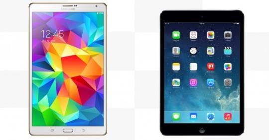 Samsung Galaxy Tab S 8.4 vs. iPad mini with Retina Display- Clearly The Tab S Wins Check Here-...