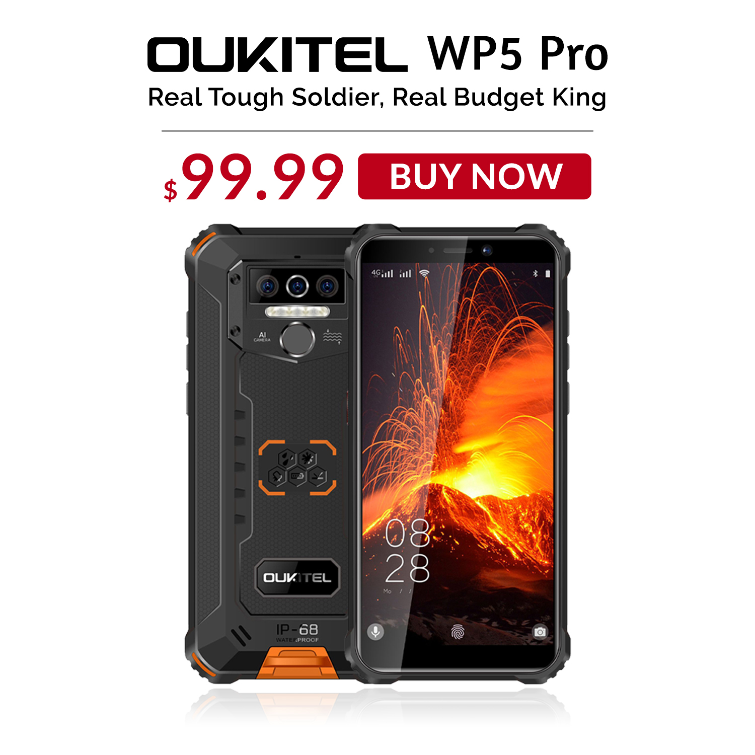 Stock going fast📣📣 Get Real Budget King #OUKITEL #WP5Pro at $99.99 only. Don't miss this unbelievable price deal🔥...