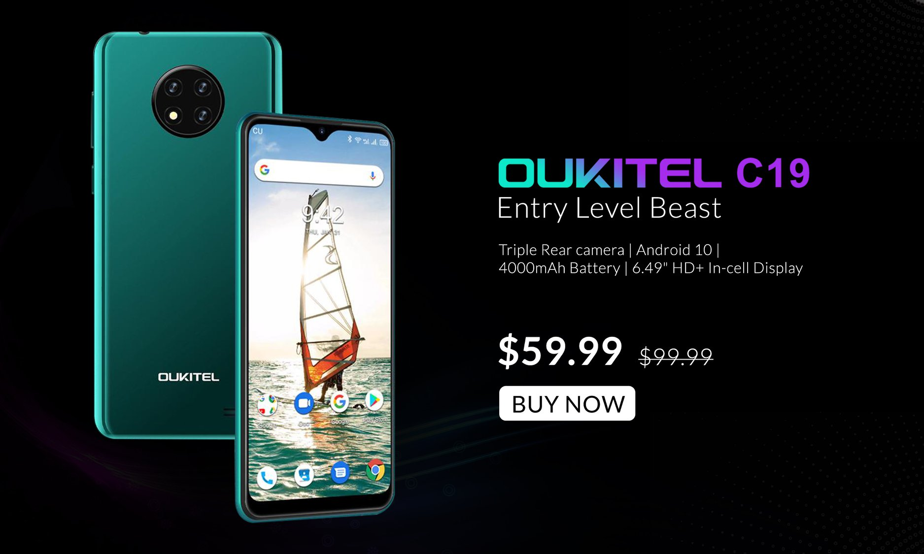 Few days left to avail this unbelievable deal of #OUKITEL #C19 at $59.99 only. #OukitelC19 Featured with: