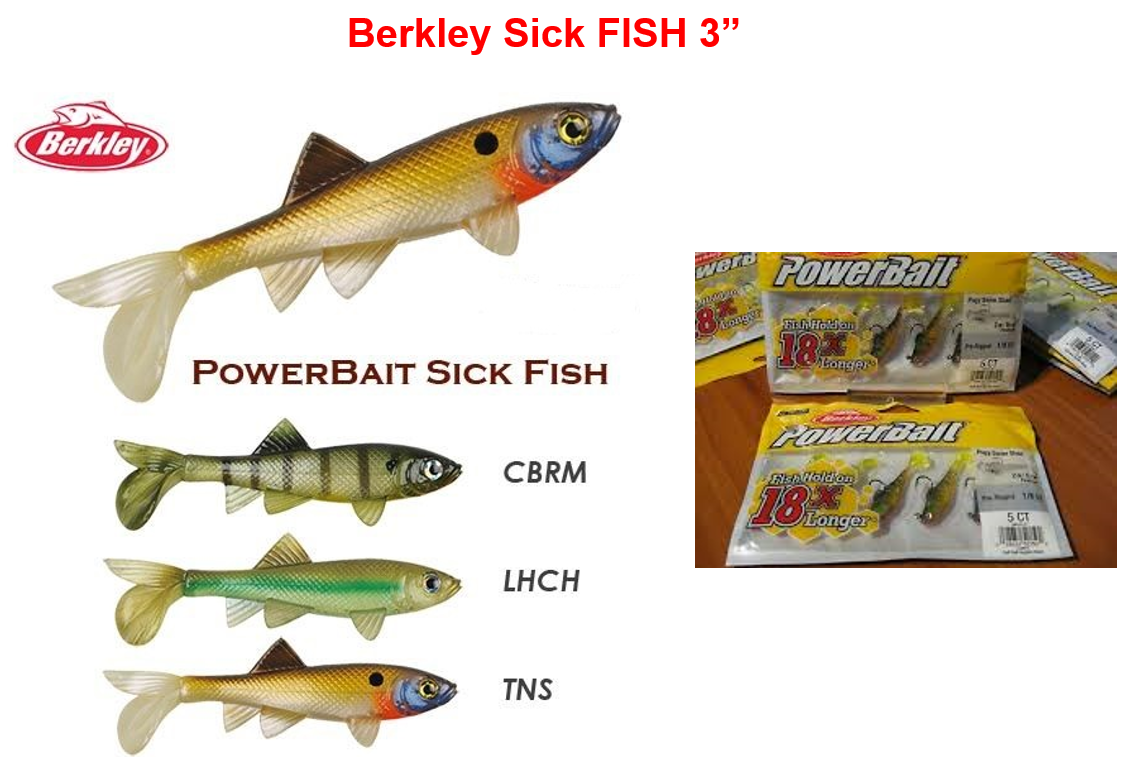 Berkley Sick Fish 3""