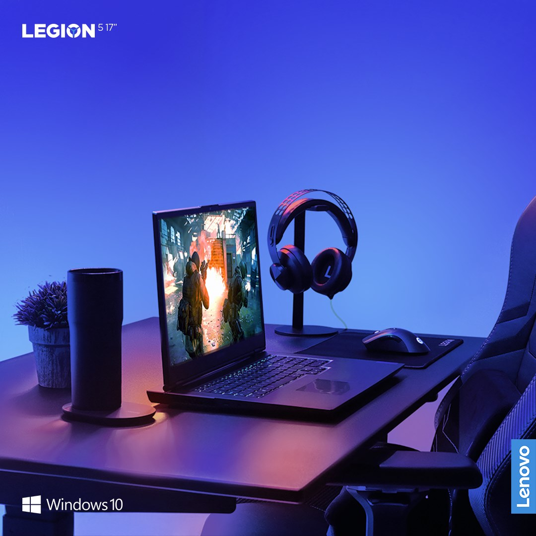 "Win the game before it's played. The Legion 5 17"" powers immersive gaming sessions with overpowered displays and vibrant 3D Nahimic for Gamers Audio. Now available in Phantom Blue. Windows  10 unlocks the full potential of your system's hardware."