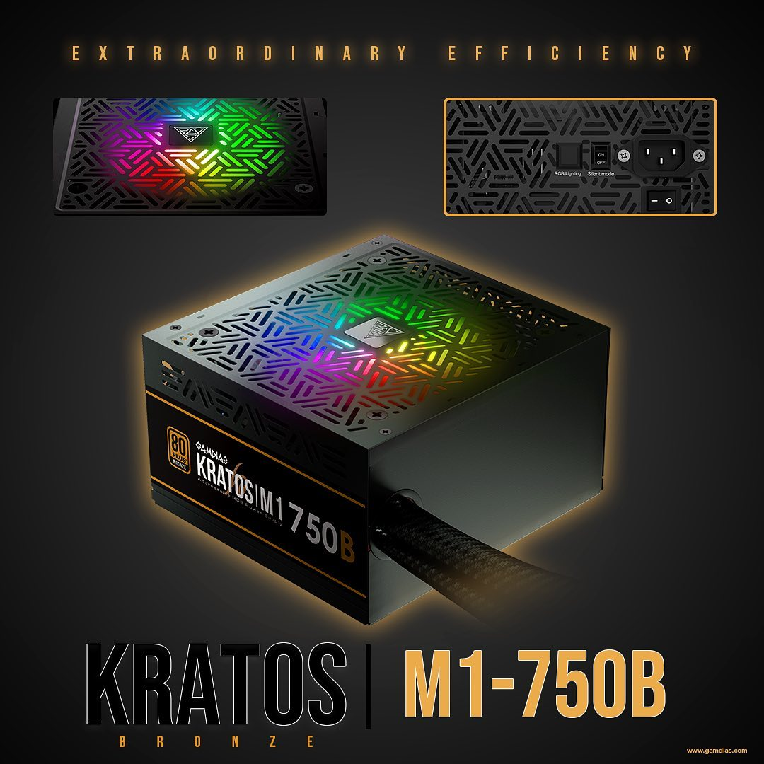 Assure yourself with a powerful power supply unit‼️ KRATOS|M1 750-B Power Supply Unit 💢RTX 3070 Power Proof and the Best RGB Budget Power Supply!💢...