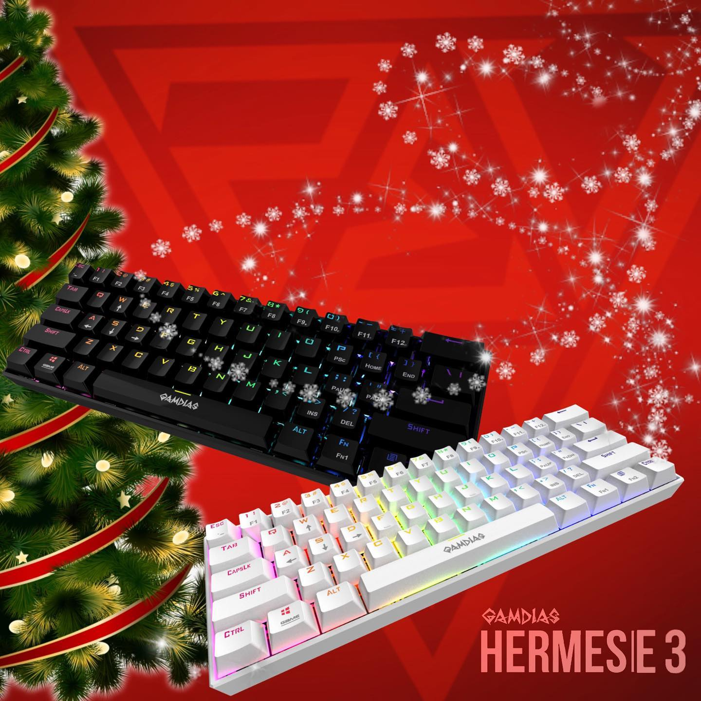 Ready for 🎁 this Holiday?! ✌🏼More Days Before Christmas☃️! 🎉Happy Holidays from GAMDIAS to all of you!🎉... ============================== HERMES|E3 GAMDIAS First 60% Mechanical Gaming Keyboard! Gain back your gaming estate of your desk! ==============================